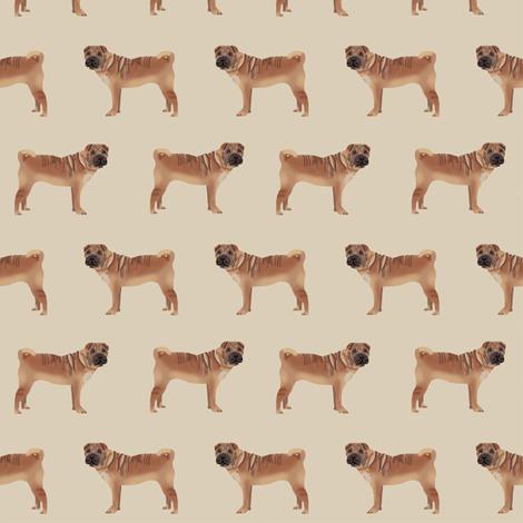 sharpei fabric dog design pattern pet friendly original design  - sand fabric by petfriendly on Spoonflower - custom fabric
