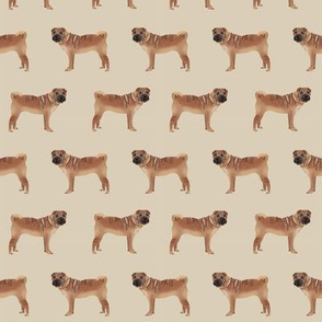 sharpei fabric dog design pattern pet friendly original design  - sand