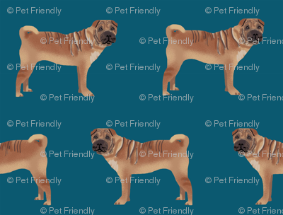 sharpei fabric dog design pattern pet friendly original design