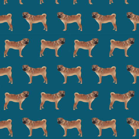 sharpei fabric dog design pattern pet friendly original design fabric by petfriendly on Spoonflower - custom fabric