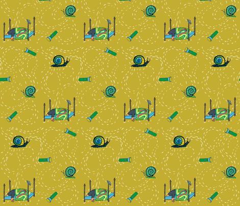dream mole_ main print yarrow yellow fabric by kheckart on Spoonflower - custom fabric