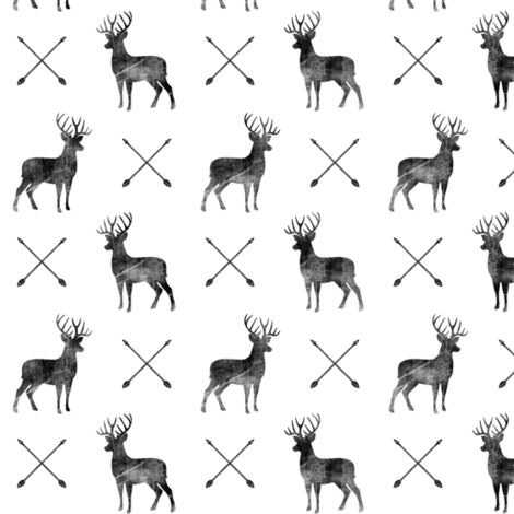 (small scale) distressed bucks and arrows fabric by littlearrowdesign on Spoonflower - custom fabric