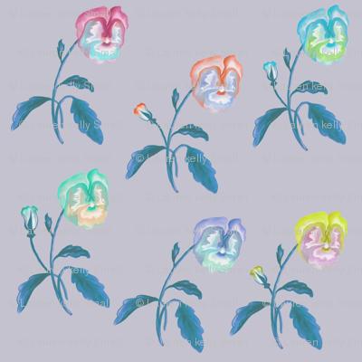 Pansy Meadow Smokey Lilac