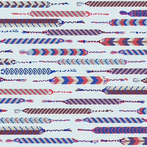 friendhip bracelets in patriotic