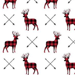 bucks and antlers - buffalo plaid