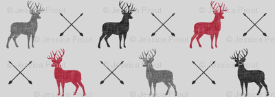 multi buck and arrows (fog)    the happy camper collection