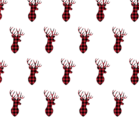 buffalo plaid buck head fabric by littlearrowdesign on Spoonflower - custom fabric