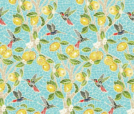 The Lemon Tree fabric by angelastevens on Spoonflower - custom fabric