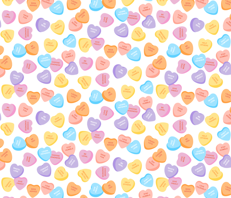 Matters of the Heart fabric by michelleaitchison on Spoonflower - custom fabric