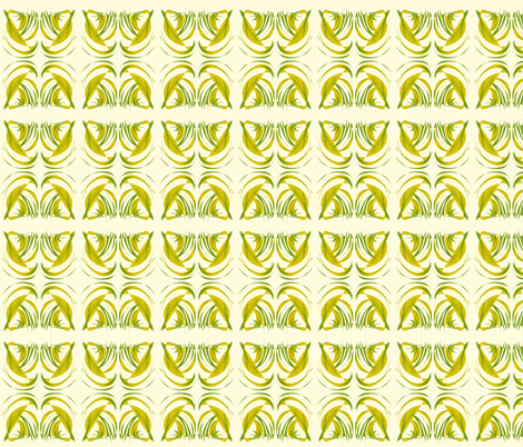 Turning Turtle With Tropical Leaves on Magnolia Cream fabric by rhondadesigns on Spoonflower - custom fabric