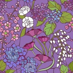 Mosaic Garden - Lilac