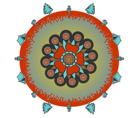 Festival Mandala fabric by bellewithbeau on Spoonflower - custom fabric