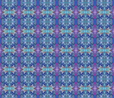 Blue Bohemian fabric by peaceofpi on Spoonflower - custom fabric