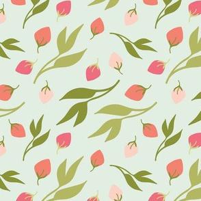 Petite Flower Bud Berries Leaves