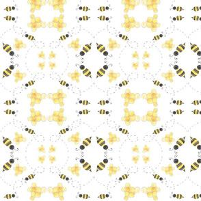 Bee Fabric Mirrored