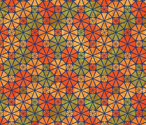Geodesic_citrus_pattern_block fabric by mgdoodlestudio on Spoonflower - custom fabric