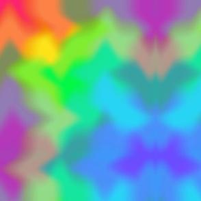 Rainbow Multicolored Watercolor Tie Dye Abstract