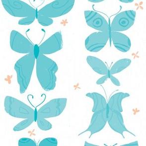 Aqua Butterflies