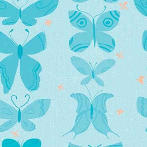 Butterflies on Aqua