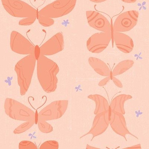 Butterflies on Tangerine