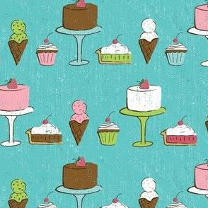 Desserts on Turquoise