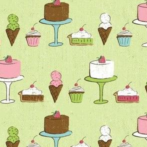Desserts on Green