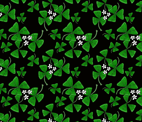 shamrocks_14 fabric by leroyj on Spoonflower - custom fabric