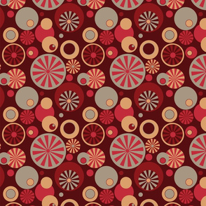 Circle Frenzy - Retro - Red