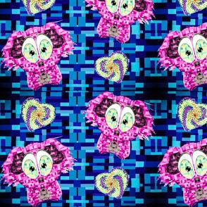 Mosaic koalas and hearts