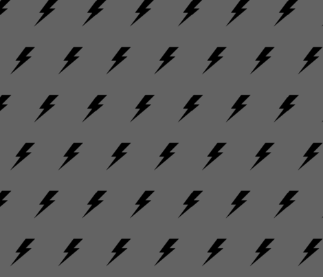 Lightening Bolt Monochrome fabric by lub_by_lamb on Spoonflower - custom fabric