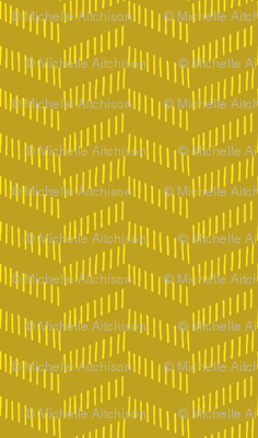 Tribal Texture Zig Zag (Mustard and Yellow)