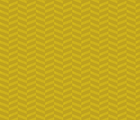 Tribal Texture Zig Zag (Mustard and Yellow) fabric by michelleaitchison on Spoonflower - custom fabric