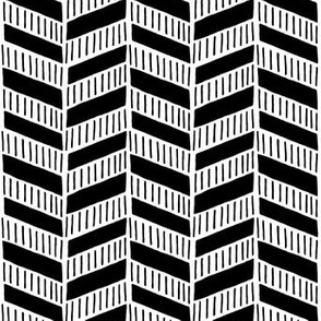Tribal Texture Zig Zag (Black and White)