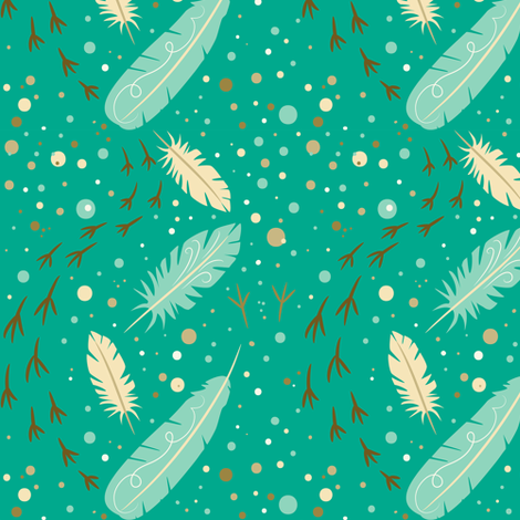 Feather_Feet fabric by johannaparkerdesign on Spoonflower - custom fabric
