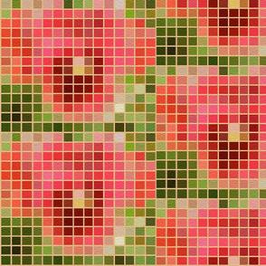 Pixilated Pansy Mosaic