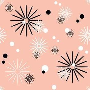 Summer Picnic - Starbursts & Polka Dots - Pink