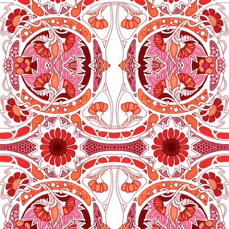 On the Hottest Day of Summer fabric by edsel2084 on Spoonflower - custom fabric