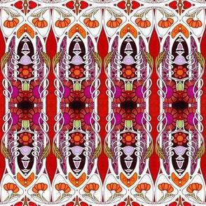 Jungle Line Poppy Stripe