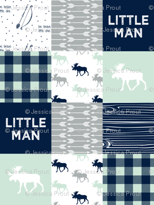 Little Man Patchwork Fabric - Northern Lights Collection