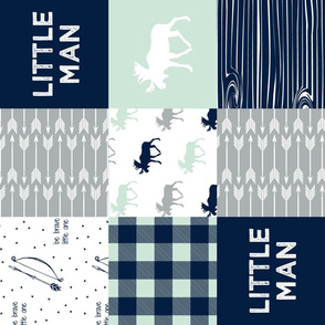 Little Man Patchwork Fabric (90) - Northern Lights Collection