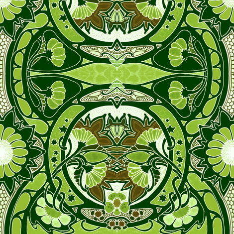 Not So Much Miracle Grow, Jo fabric by edsel2084 on Spoonflower - custom fabric