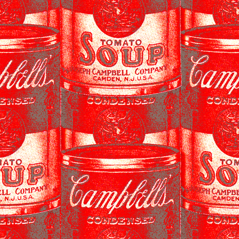 1906 Soup Can Medium Scale fabric by hollycejeffriess on Spoonflower - custom fabric