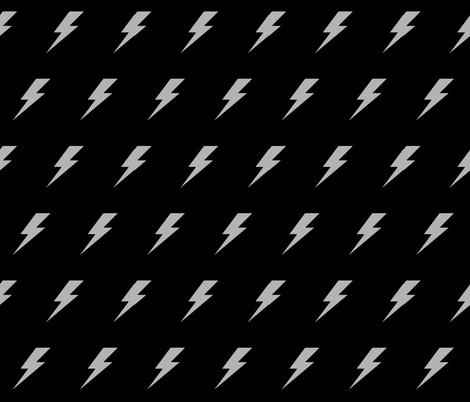 Lightening bolt grey and black fabric by lub_by_lamb on Spoonflower - custom fabric