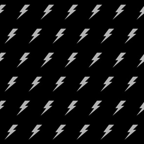 Lightening bolt grey and black