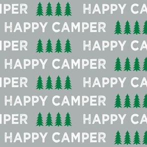 happy camper || grey and green