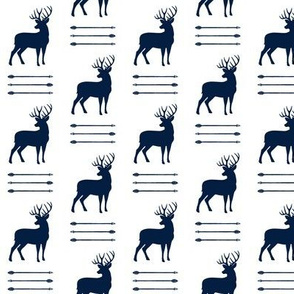 (small scale) bucks and arrow stack (navy)