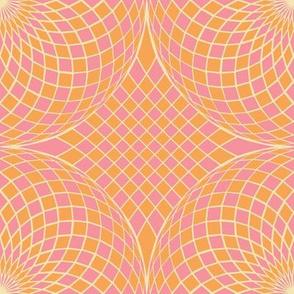 geodesic sphere - dotpink