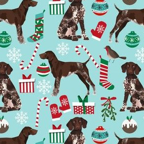 german shorthaired pointer dog christmas fabric dog christmas design