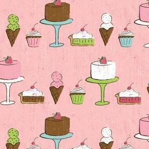 Desserts on Pink