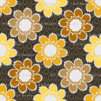 Rainy Day Flowers - Gilded Room